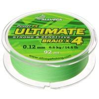 Леска плетёная Allvega Ultimate светло-зелёная 0.12, 92 м