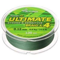 Леска плетёная Allvega Ultimate тёмно-зелёная 0.12, 135 м