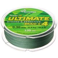 Леска плетёная Allvega Ultimate тёмно-зелёная 0.30, 135 м