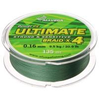 Леска плетёная Allvega Ultimate тёмно-зелёная 0.16, 135 м